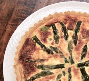 Asparagus and bacon tart
